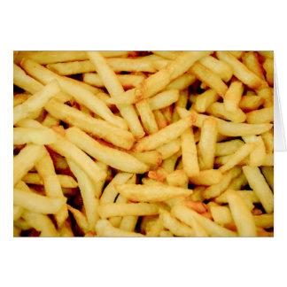 Batatas fritas cartão