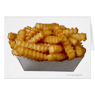 batatas fritas do Dobra-cut Cartão