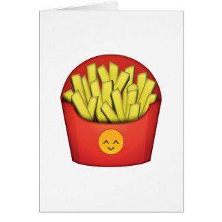 Batatas fritas - Emoji Cartão