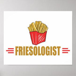 Batatas fritas engraçadas poster
