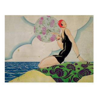 Bather, c.1925 cartão postal