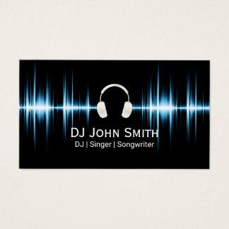 Batida da música dos fones de ouvido do DJ Cartão De Visitas