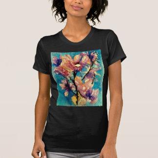 Batik japonês da aguarela da magnólia camiseta