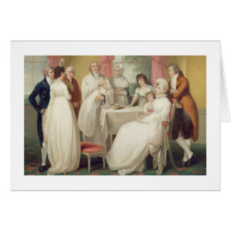 Batismo do herdeiro, (óleo em canvas) SE c.1799 Cartão