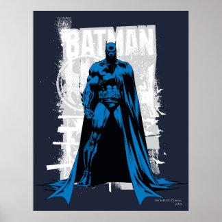 Batman cómico - vintage de vista completa poster