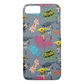 Batman e teste padrão da ação do pisco de peito capa iPhone 7