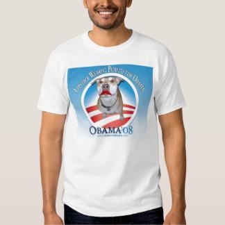 Batom que veste Pitbulls para Obama T-shirts