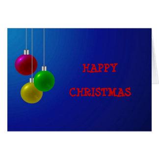 Baubles festivos do Natal Cartao