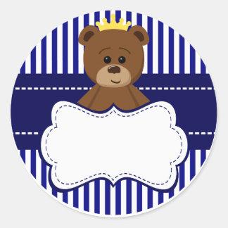 Bear King - Round Sticker Adesivo