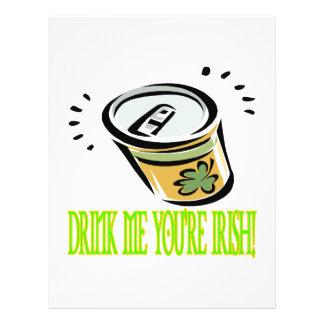 Beba-me seu irlandês modelo de panfletos