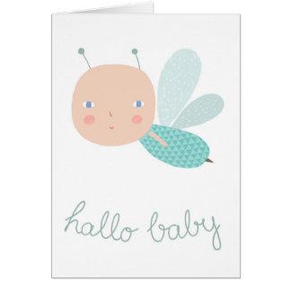 Bebé abelha rapaz cartão comemorativo