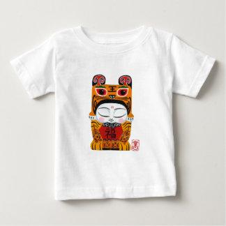 Bebê afortunado do tigre camiseta