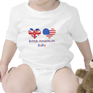 Bebê americano britânico macacãozinho para bebê