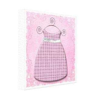 Bebé cor-de-rosa e cinzento do vestido lunático