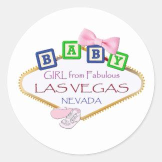 Bebé das etiquetas de Las Vegas