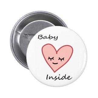 Bebê dentro do rosa bonito da mulher gravida do bóton redondo 5.08cm