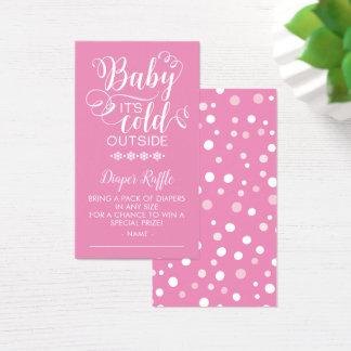 Bebê do Raffle da fralda é cartão exterior frio