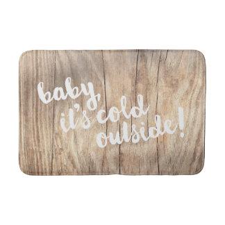 bebê, é parte externa fria! Floormat de madeira Tapete De Banheiro