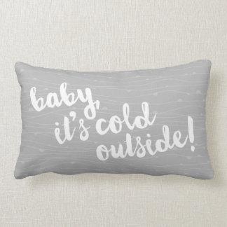 bebê, é parte externa fria! Travesseiro cinzento Almofada Lombar