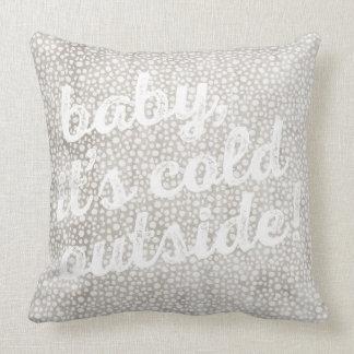 bebê é parte externa fria! Travesseiro quadrado Almofada
