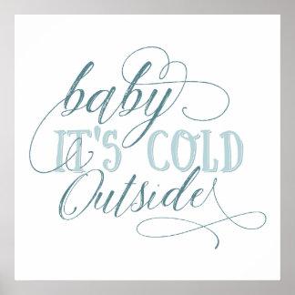 Bebê é poster exterior frio das citações do pôster