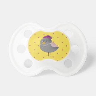 Bebé engraçado das bolinhas retros bonitos do chupeta de bebê