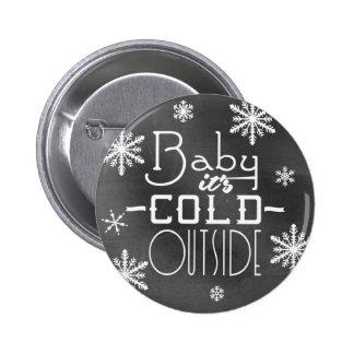 Bebê festivo chique do quadro é parte externa fria bóton redondo 5.08cm
