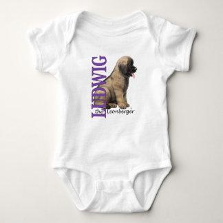 Bebê Ludwig o Bodysuit do filhote de cachorro de Body Para Bebê