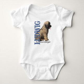 Bebê Ludwig o Bodysuit do filhote de cachorro de Camisetas