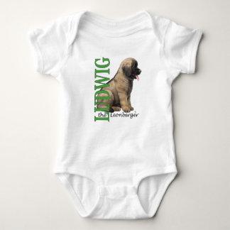 Bebê Ludwig o Bodysuit do filhote de cachorro de T-shirt