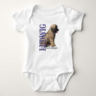 Bebê Ludwig o Bodysuit do filhote de cachorro de T-shirts
