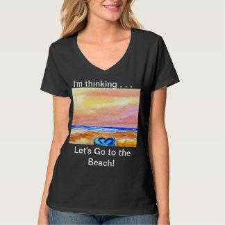 Bebê nadador ido da praia - Tshirt das férias do