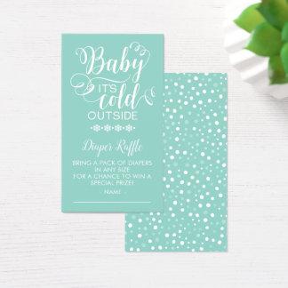 Bebê neutro do Raffle da fralda é cartão exterior