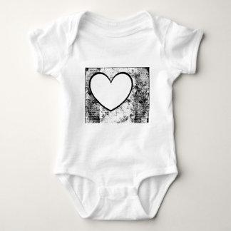 Bebê, rosa da inserção da foto da forma do coração camisetas