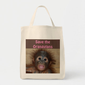 Bebês do animal do orangotango bolsa tote