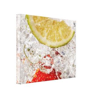 Bebida do limão da morango impressão em tela