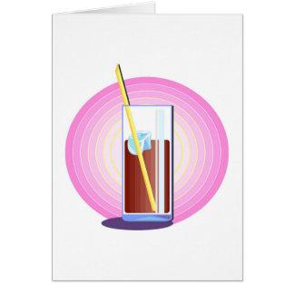 Bebida efervescente da soda cartão