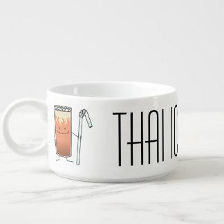 Bebida feliz Tailândia do chá gelado tailandês & Tigela De Sopa