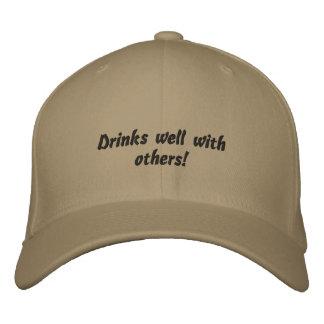 Bebidas bem com outro chapéu bordado engraçado boné