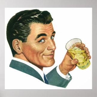 Bebidas dos cocktail do vintage, bebidas do pôster