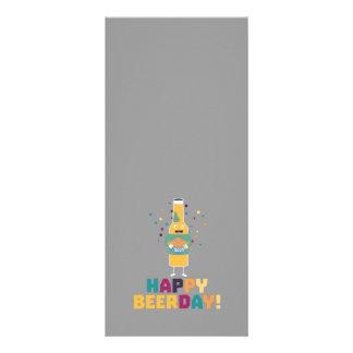 Beerday feliz Beerbottle Zhnp3 10.16 X 22.86cm Panfleto