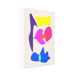 Bege colocado da flor impressão de canvas envolvida