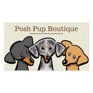 Bege da polca dos filhotes de cachorro da loja cartão de visita