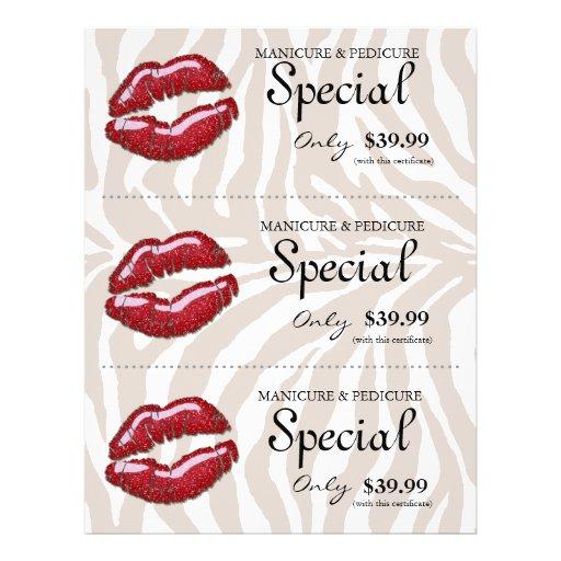 Bege vermelho lustroso da zebra dos lábios do inse panfleto personalizado