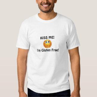 BEIJE-ME que eu sou FAMÍLIA SEM GLÚTEN do T-shirt