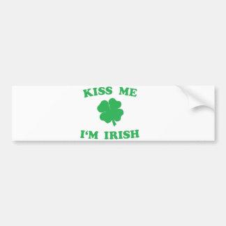 Beije-me que eu sou irlandês adesivo para carro