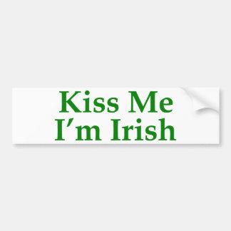 Beije-me que eu sou irlandês adesivo