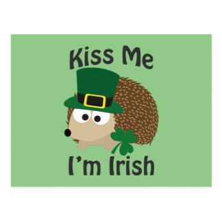 Beije-me que eu sou ouriço irlandês cartão postal