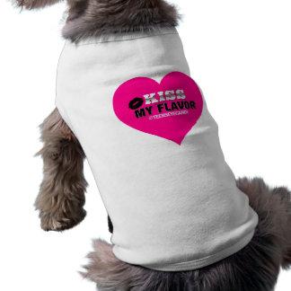 Beije meu rosa de Vape do sabor Camisa Sem Mangas Para Cachorro