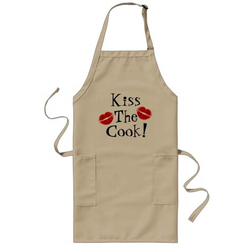 Beije o avental do cozinheiro